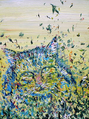 Painting - Cat In The Grass by Fabrizio Cassetta