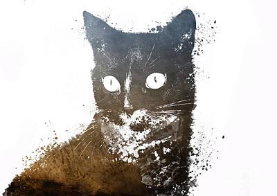 Kitty Digital Art - Cat Jerry by Justyna JBJart