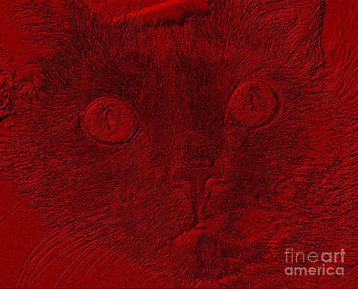 Digital Art - Cat Likes Attention by Oksana Semenchenko