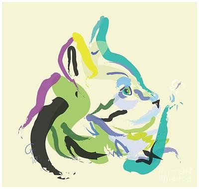 Cat Lisa Art Print by Go Van Kampen