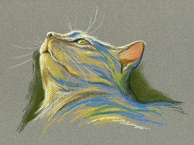 Pastel - Cat Looking Up To Heaven by MM Anderson