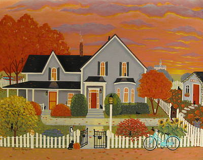 Cat Lover Painting - Cat Lover's Haven by Mary Charles