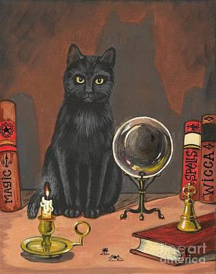 T- Ball Painting - Cat Magic by Margaryta Yermolayeva