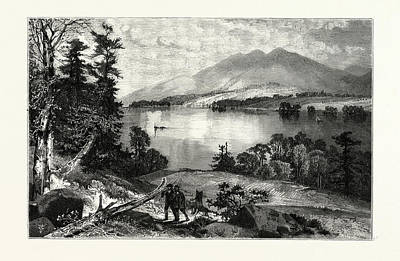Cat Mountain, Lake George Usa Art Print by American School