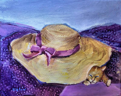 Painting - Cat Nap by Diane Ursin