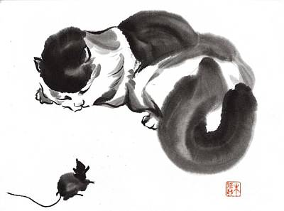 Painting - Cat Nap by Yolanda Koh