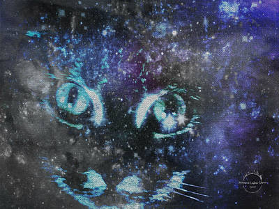 Digital Art - Cat Nebula by Absinthe Art By Michelle LeAnn Scott