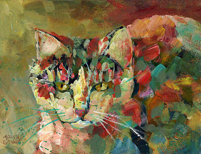 Painting - Cat Of Many Colors by Melissa Gannon