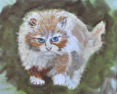 Pastel - Cat On The Hunt by Calliope Thomas