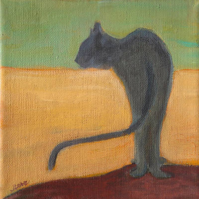 Painting - Cat Pause by Jude Lobe