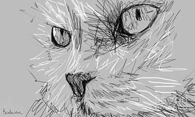 Cat Portrait Art Print by Jeffrey Kreideweis