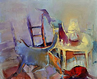 Painting - Cat S by David Figielek