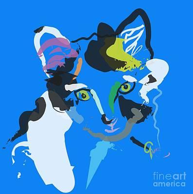 Colorful Art Digital Art - Cat Sam by Go Van Kampen