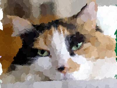 Painting - Cat by Samuel Majcen