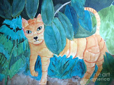 Painting - CAT by Sandy McIntire