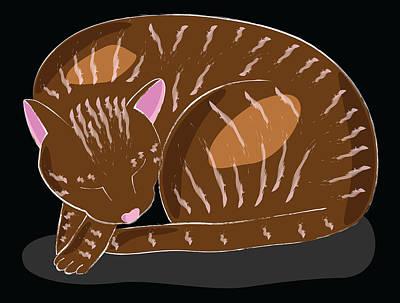 Cat Art Print by Sara Ponte