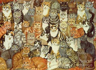 Kittens Painting - Cat Spread by Ditz