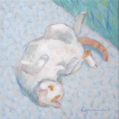 Painting - Cat Sunbathing  by Kazumi Whitemoon