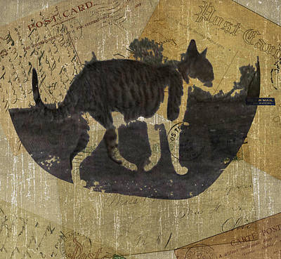 Cat Travels Art Print