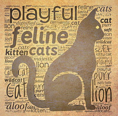Cat Typography Art Print
