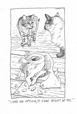 Painting - Cat V Toilet Roll by Steve Hunter
