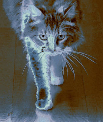 Cat Walking Art Print by Ben and Raisa Gertsberg