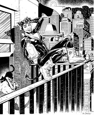 Dc Comics Drawing - Cat Woman The Heist  by Ken Branch