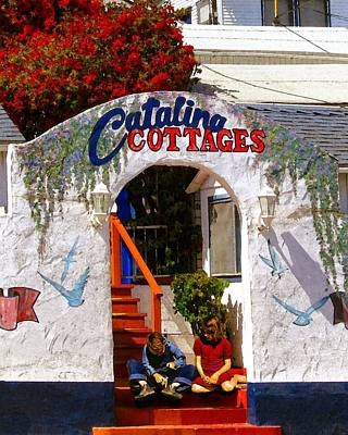 Photograph - Catalina Cottages by Timothy Bulone