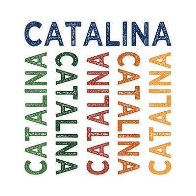 Catalina Island Digital Art - Catalina Cute Colorful by Flo Karp