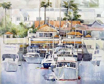 Boats Painting - Catalina Island by Natalia Eremeyeva Duarte