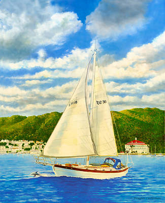 Painting - Catalina Island Sailboat by Douglas Castleman