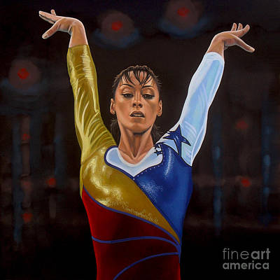 Celebrities Painting - Catalina Ponor by Paul Meijering