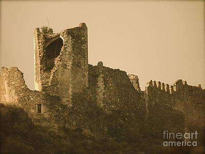 Cathar Country Photograph - Catapult At Lastours  by France  Art