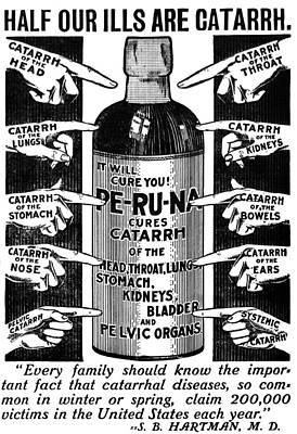 Liquor Mixed Media - Catarrh Cure For What Ails You C. 1905 by Daniel Hagerman