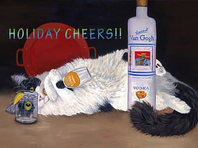 Painting - Catatonic Holiday Card by Karen Zuk Rosenblatt