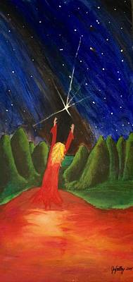 The Universe Painting - Catch A Falling Star by Joy Gilley