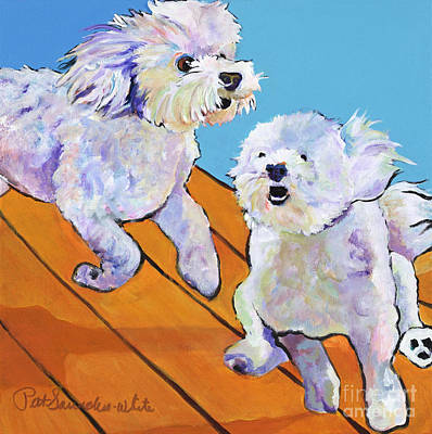 Dog Poster Painting - Catch Me     by Pat Saunders-White