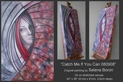 Art Print featuring the painting Catch Me If You Can 080908 by Selena Boron