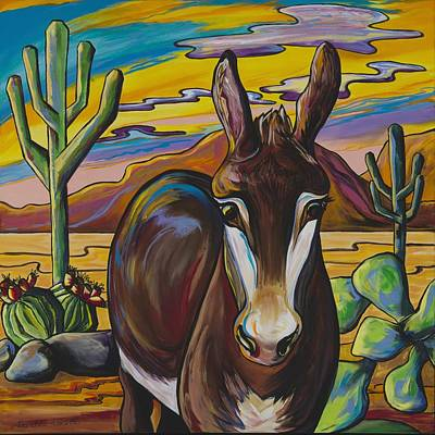 Southwestern Painting - Catch Me If You Can by Alexandria Winslow