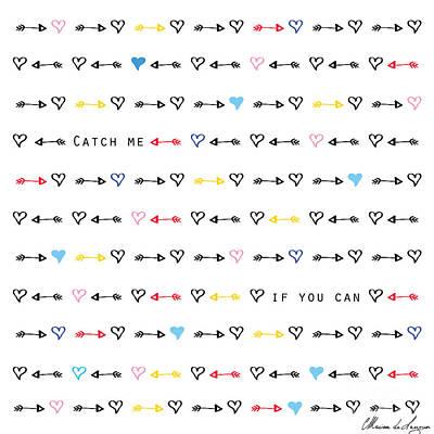 Cute Digital Art - Catch Me If You Can by Marion De Lauzun
