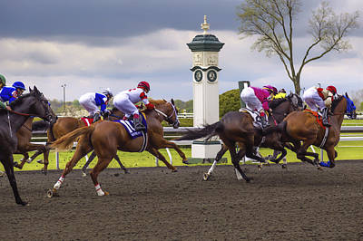 Keeneland Photograph - Catch Me by Jack R Perry
