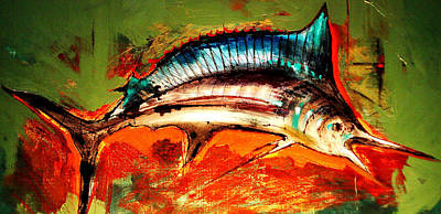 Swordfish Wall Art - Painting - Catch Of The Day by Andrew Hewkin