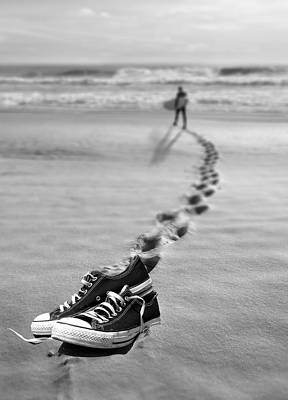 Sneakers Digital Art - Catch Some Waves by Nina Bradica