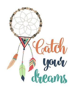 Catch Your Dreams Art Print by Tamara Robinson