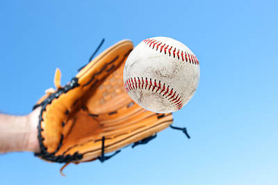 Catching A Baseball Art Print by Joe Belanger