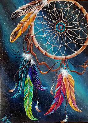 Dreamcatcher Painting - Catching Matt's Dreams by Trish Wade