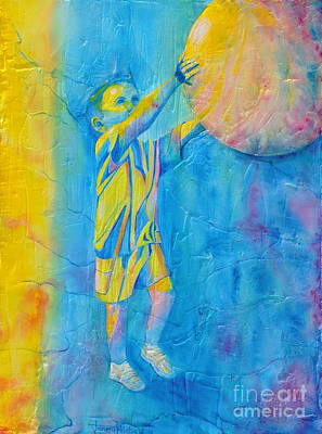 Painting - Catching The Ball by Jaswant Khalsa