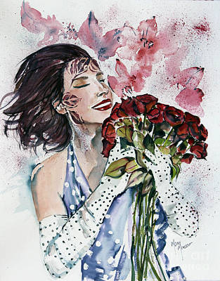 Painting - Catching The Bouquet by Mona Mansour Jandali