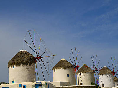 Photograph - The Evocative Windmills Of Greece by Brenda Kean