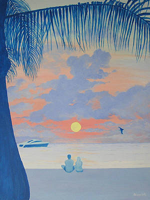 Caribe Painting - Catching The Early Show by Debbie Kiewiet